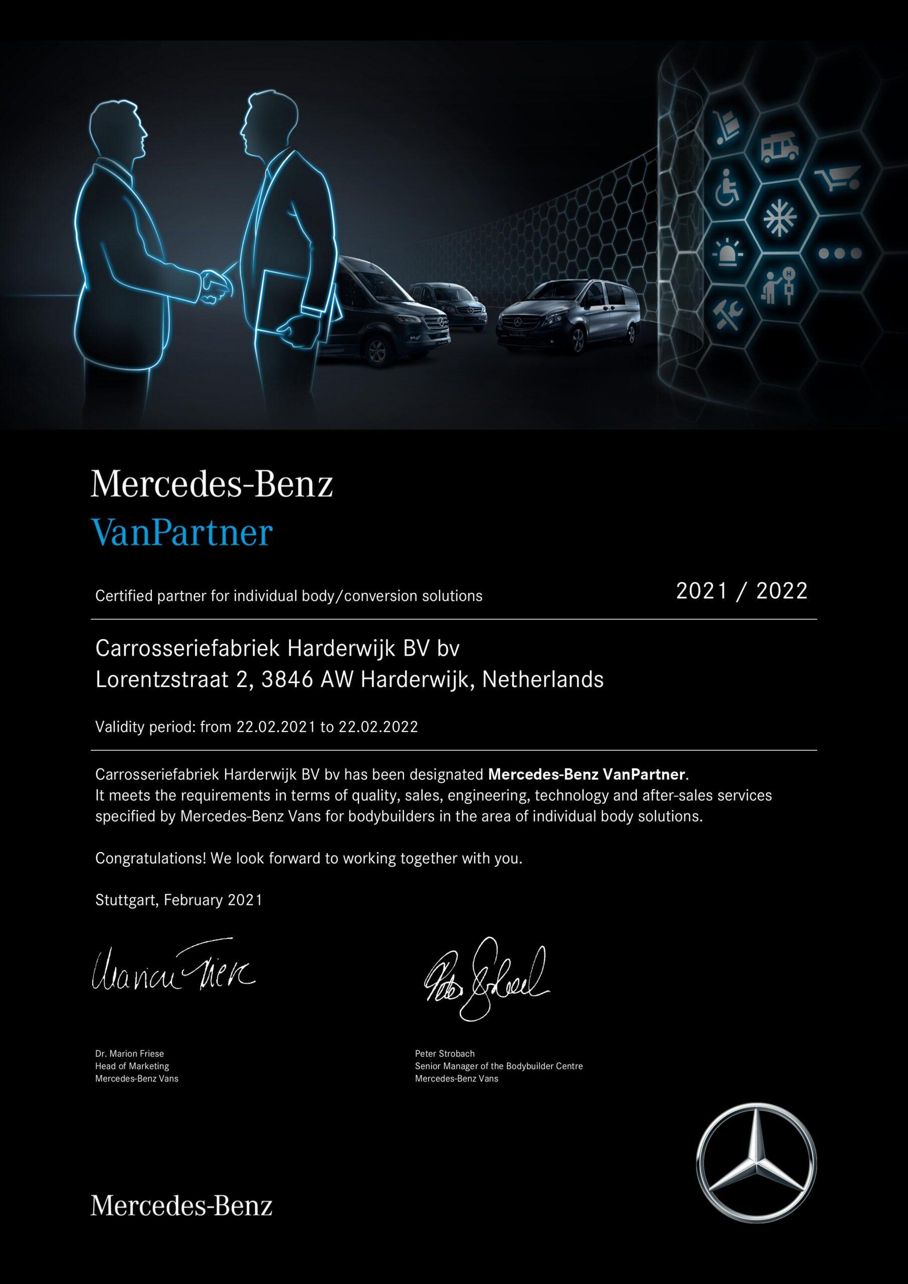 Mercedes Van Partner